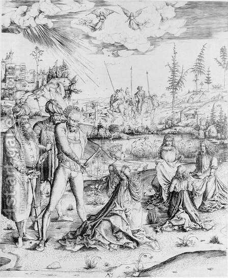 Martyrdom of St Catherine of Alexandria 1502-03 by Master M Z - Reproduction Oil Painting