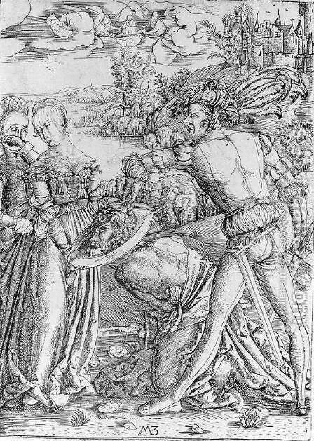 The Beheading of St John the Baptist c. 1500 by Master M Z - Reproduction Oil Painting