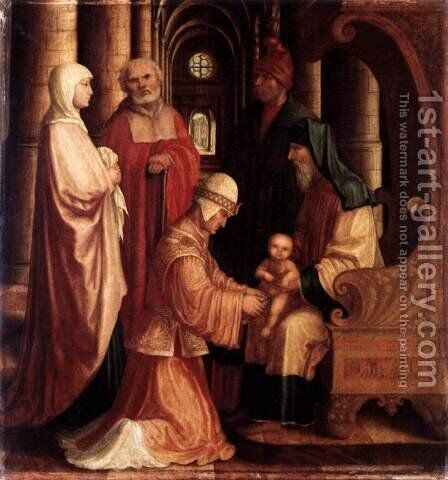 The Circumcision c. 1530 by Master M Z - Reproduction Oil Painting