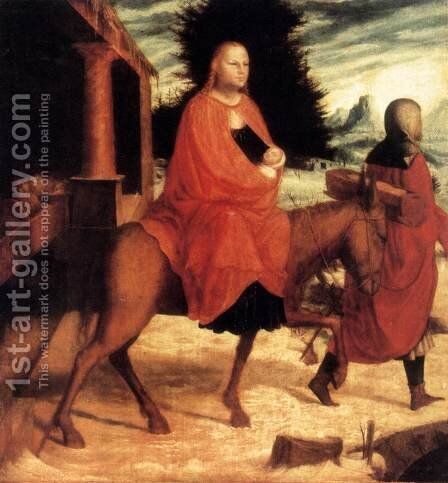 The Flight into Egypt c. 1530 by Master M Z - Reproduction Oil Painting