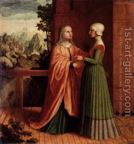 The Visitation c. 1530 by Master M Z - Reproduction Oil Painting