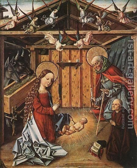 Nativity  1474-76 by Master of Avila - Reproduction Oil Painting