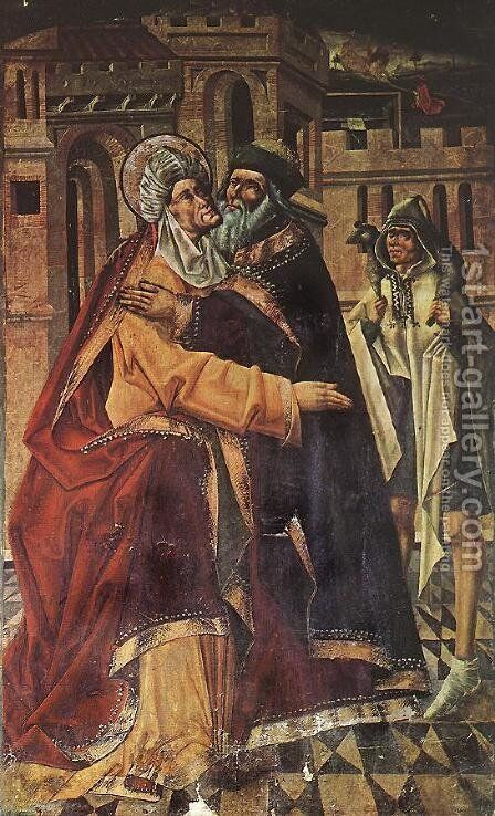 The Embrace 1480-90 by Master of Avila - Reproduction Oil Painting