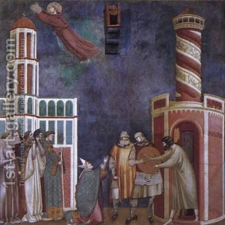 Legend of St Francis- 28. Liberation of the Repentant Heretic 1300 by Master of Saint Cecilia - Reproduction Oil Painting