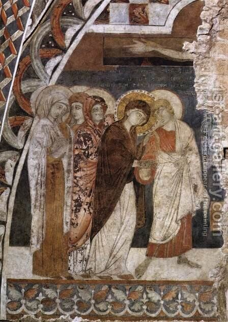 Scenes from the Passion of Christ- Christ on the Cross 1260-80 by Master of St Francis - Reproduction Oil Painting
