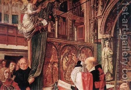St Gilles' Mass (detail) c. 1500 by Master of St. Gilles - Reproduction Oil Painting