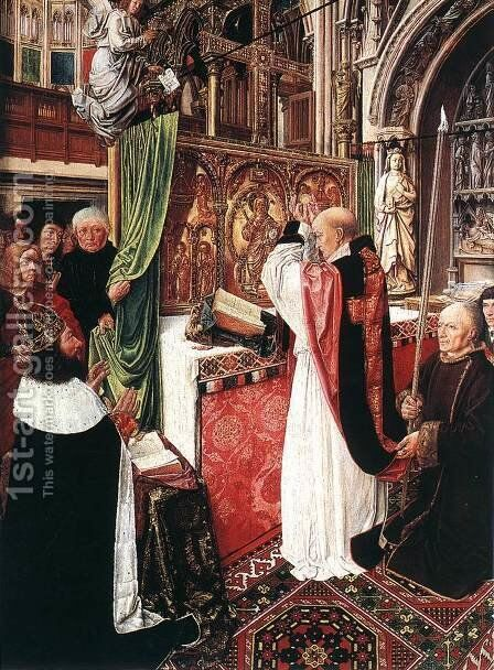 The Mass of St Gilles c. 1500 by Master of St. Gilles - Reproduction Oil Painting