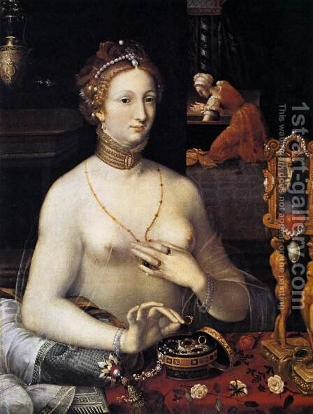 Diana at the Bath c. 1590 by Anonymous Artist - Reproduction Oil Painting