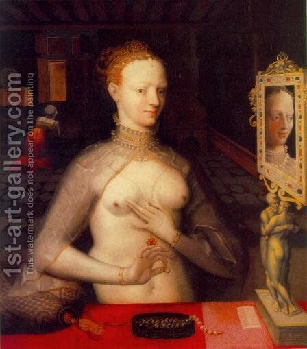 Diane de Poitiers c. 1590 by Anonymous Artist - Reproduction Oil Painting