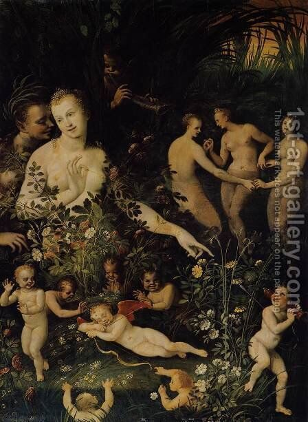 Mythological Allegory c. 1580 by Anonymous Artist - Reproduction Oil Painting