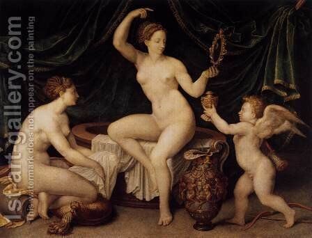 Venus at Her Toilet c. 1550 by Anonymous Artist - Reproduction Oil Painting