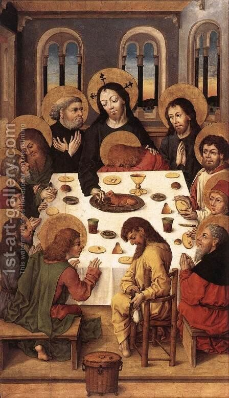 The Last Supper by Master of the Housebook - Reproduction Oil Painting
