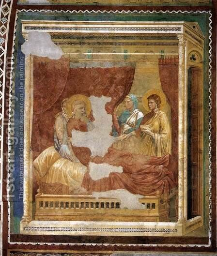 Scenes from the Old Testament- Isaac Blessing Jacob 1290s by Master of the Isaac Stories - Reproduction Oil Painting