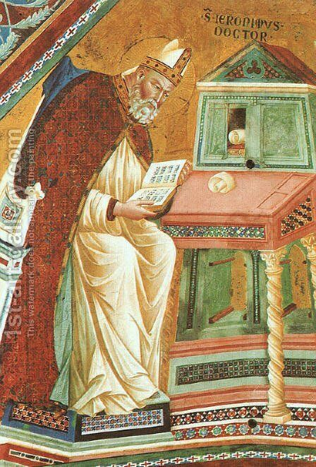 The Doctors of the Church (detail) 1279-1300 by Master of the Isaac Stories - Reproduction Oil Painting