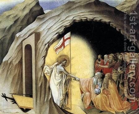 The Descent into Limbo c. 1445 by Master of the Osservanza - Reproduction Oil Painting