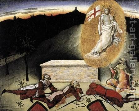 The Resurrection c. 1445 by Master of the Osservanza - Reproduction Oil Painting