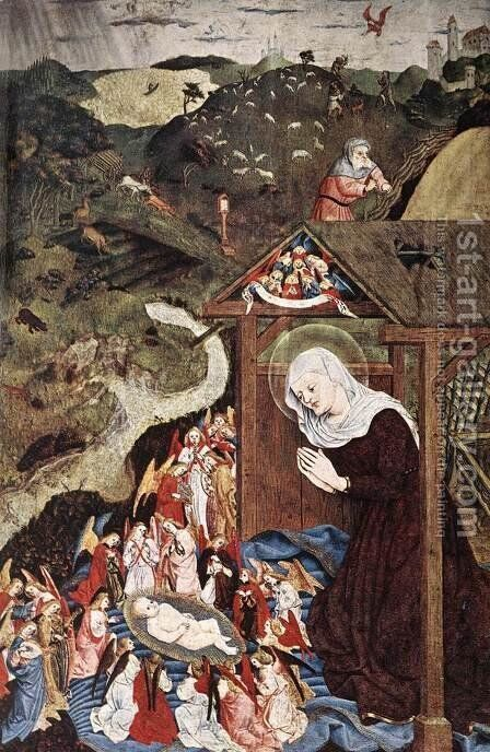 Adoration of the Child 1444 by Master of the Polling Panels - Reproduction Oil Painting