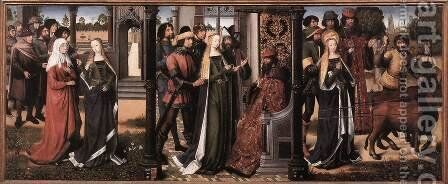 Legend of St Lucy 1480 by Master of the Saint Lucy Legend - Reproduction Oil Painting