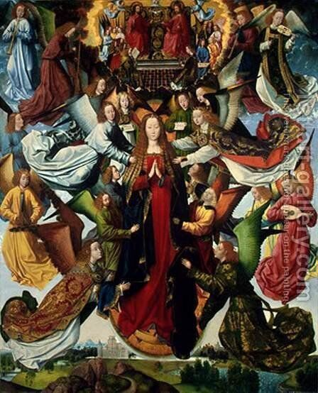 Mary, Queen of Heaven c. 1485-1500 by Master of the Saint Lucy Legend - Reproduction Oil Painting