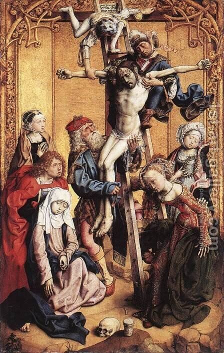The Deposition 1500-05 by Master of the St. Bartholomew Altarpiece - Reproduction Oil Painting