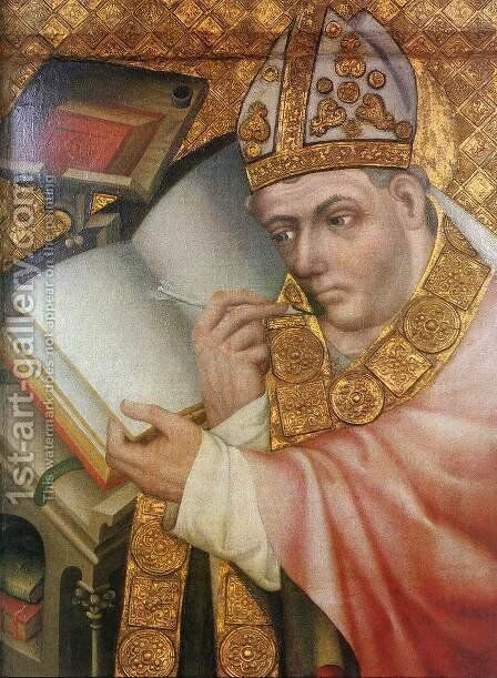 Painting of a Saint 1360-65 by Master Theoderic - Reproduction Oil Painting