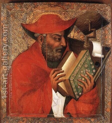 St Jerome 1360-65 by Master Theoderic - Reproduction Oil Painting