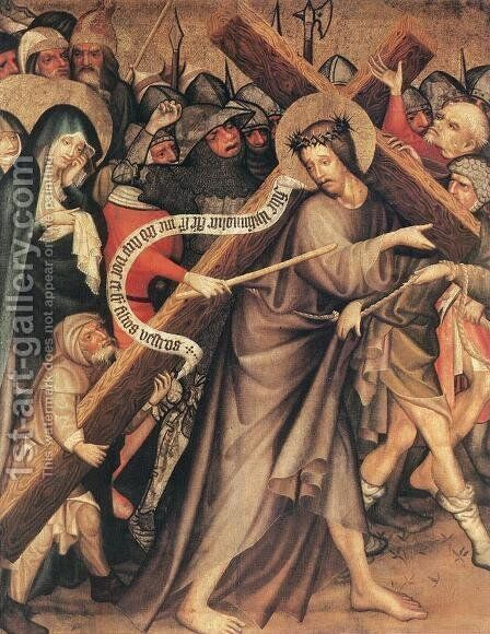 Christ Carrying the Cross 1427 by Master Thomas de Coloswar - Reproduction Oil Painting