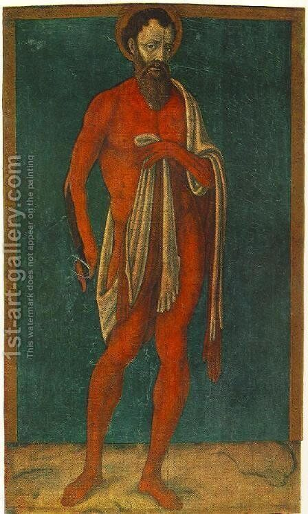 The Apostle St Bartholomew  1480 by Matteo Di Giovanni - Reproduction Oil Painting