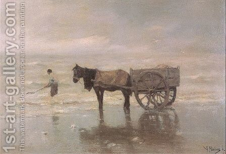 Gathering Seaweed by Anton Mauve - Reproduction Oil Painting