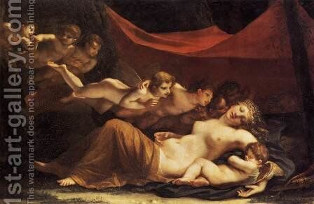 The Sleep of Venus and Cupid 1806 by Marie-Constance Mayer - Reproduction Oil Painting