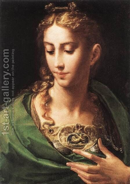 Pallas Athene c. 1539 by Girolamo Francesco Maria Mazzola (Parmigianino) - Reproduction Oil Painting