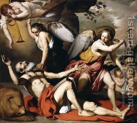 The Vision of St Jerome 1657-60 by Bernardino Mei - Reproduction Oil Painting