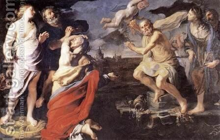 Allegory of Fortune 1660s by Bernardino Mei - Reproduction Oil Painting