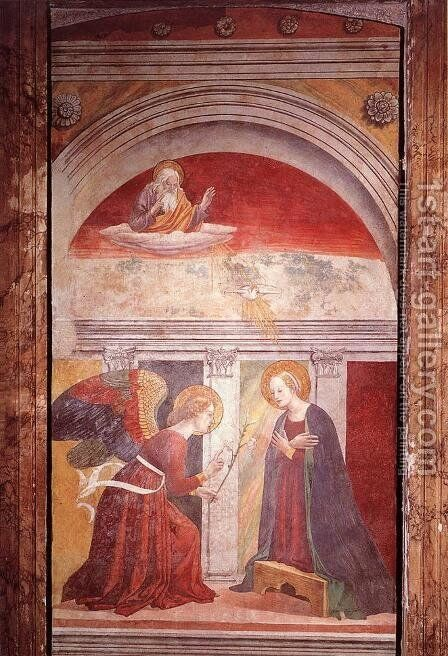 Annunciation by Melozzo da Forli - Reproduction Oil Painting