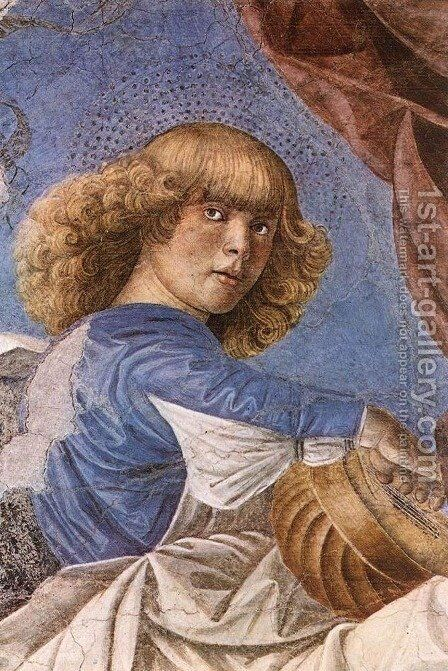 Music-making Angel c. 1480 by Melozzo da Forli - Reproduction Oil Painting