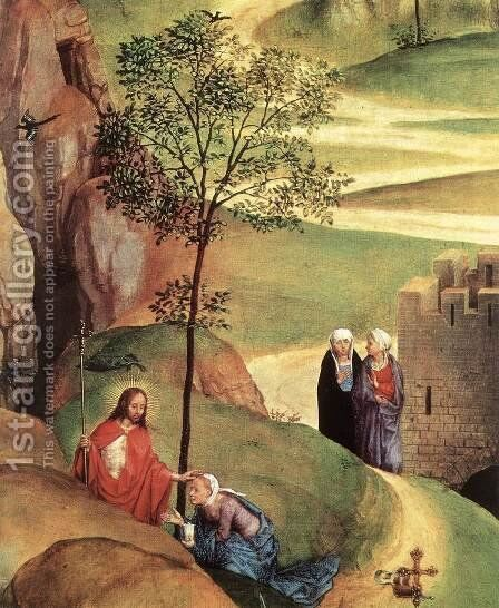 Advent and Triumph of Christ (detail-2) 1480 by Hans Memling - Reproduction Oil Painting