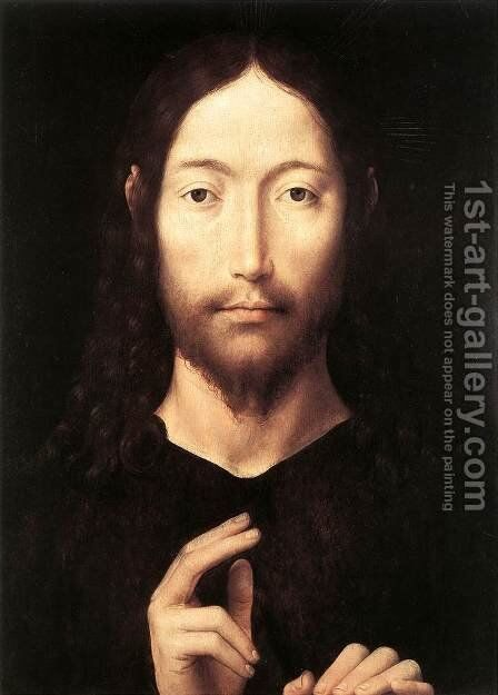 Christ Giving His Blessing 1478 by Hans Memling - Reproduction Oil Painting