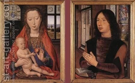 Diptych of Maarten Nieuwenhove 1487 by Hans Memling - Reproduction Oil Painting
