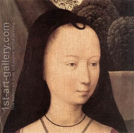 Diptych with the Allegory of True Love (detail) 1485-90 by Hans Memling - Reproduction Oil Painting