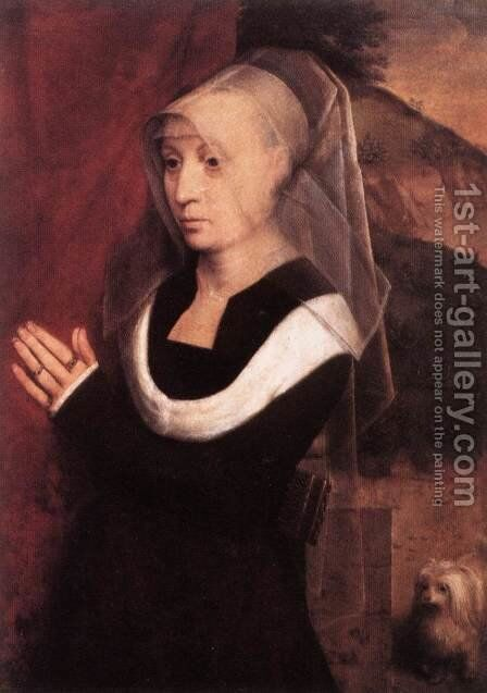Donor (2) c. 1490 by Hans Memling - Reproduction Oil Painting