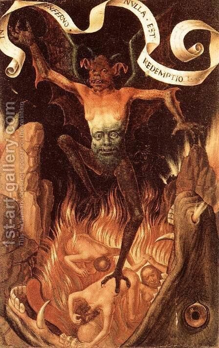 Hell c. 1485 by Hans Memling - Reproduction Oil Painting