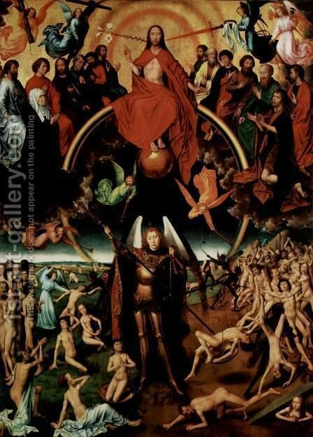 Last Judgment Triptych (central) 1467-71 by Hans Memling - Reproduction Oil Painting
