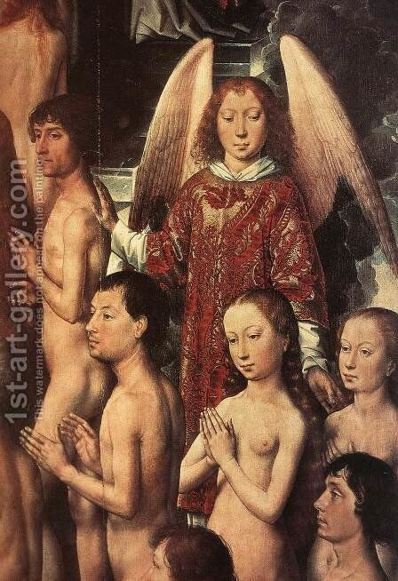 Last Judgment Triptych (detail-1) 1467-71 by Hans Memling - Reproduction Oil Painting