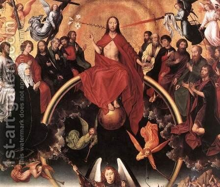Last Judgment Triptych (detail-3) 1467-71 by Hans Memling - Reproduction Oil Painting