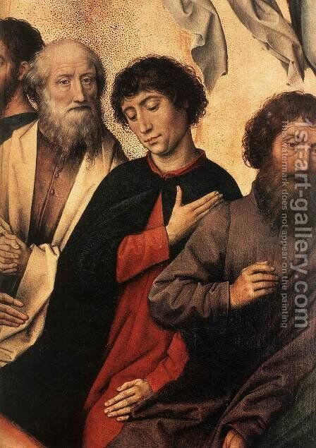 Last Judgment Triptych (detail-4) 1467-71 by Hans Memling - Reproduction Oil Painting