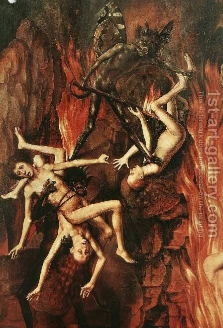 Last Judgment Triptych (detail-10) 1467-71 by Hans Memling - Reproduction Oil Painting