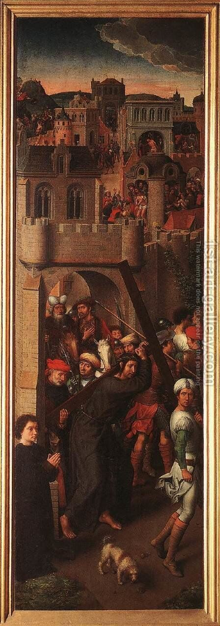Passion (Greverade) Altarpiece (left wing) 1491 by Hans Memling - Reproduction Oil Painting