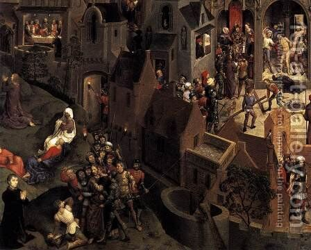 Scenes from the Passion of Christ (detail-3) 1470-71 by Hans Memling - Reproduction Oil Painting