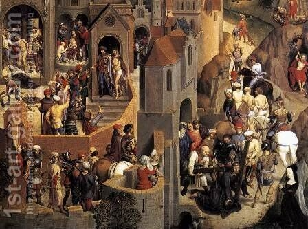 Scenes from the Passion of Christ (detail-5) 1470-71 by Hans Memling - Reproduction Oil Painting