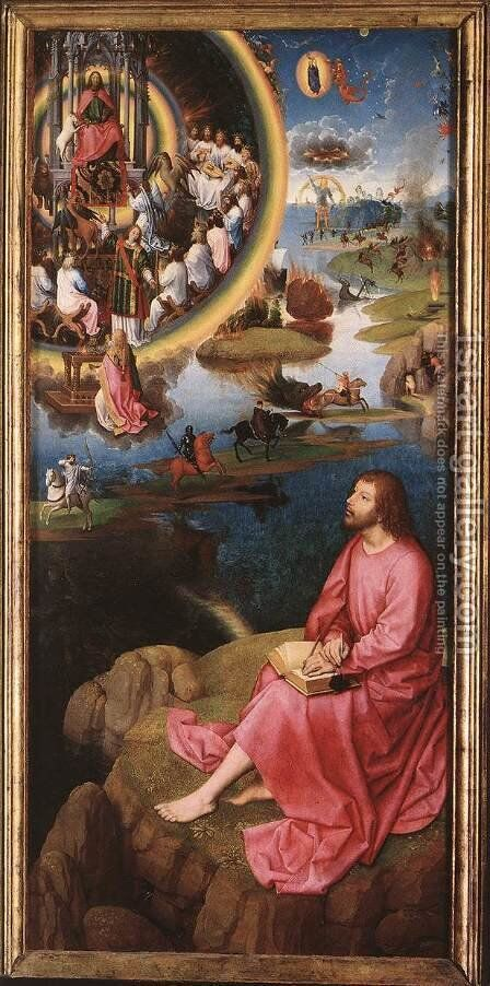 St John Altarpiece (right wing) 1474-79 by Hans Memling - Reproduction Oil Painting